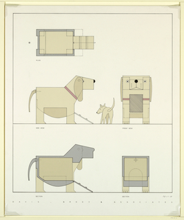 Drawing, Trojan Doghouse, 1990
