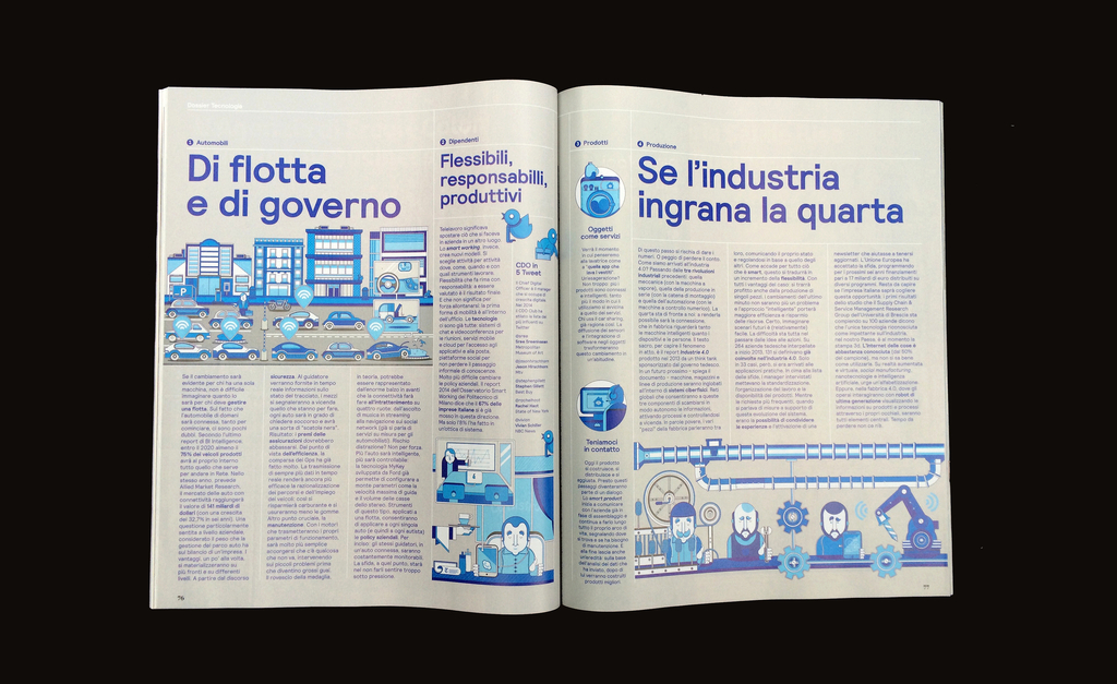 Magazine, Dossier Technologia Aziende 4.0 (Dossier of technology enterprises 4.0), from IL, No. 69, April 2015