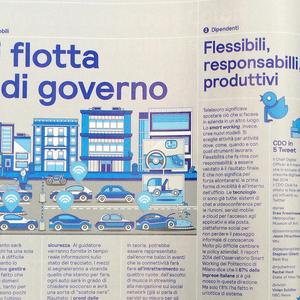 Magazine, Dossier Technologia Aziende 4.0 (Dossier of technology enterprises 4.0), from IL, No. 69, April 2015