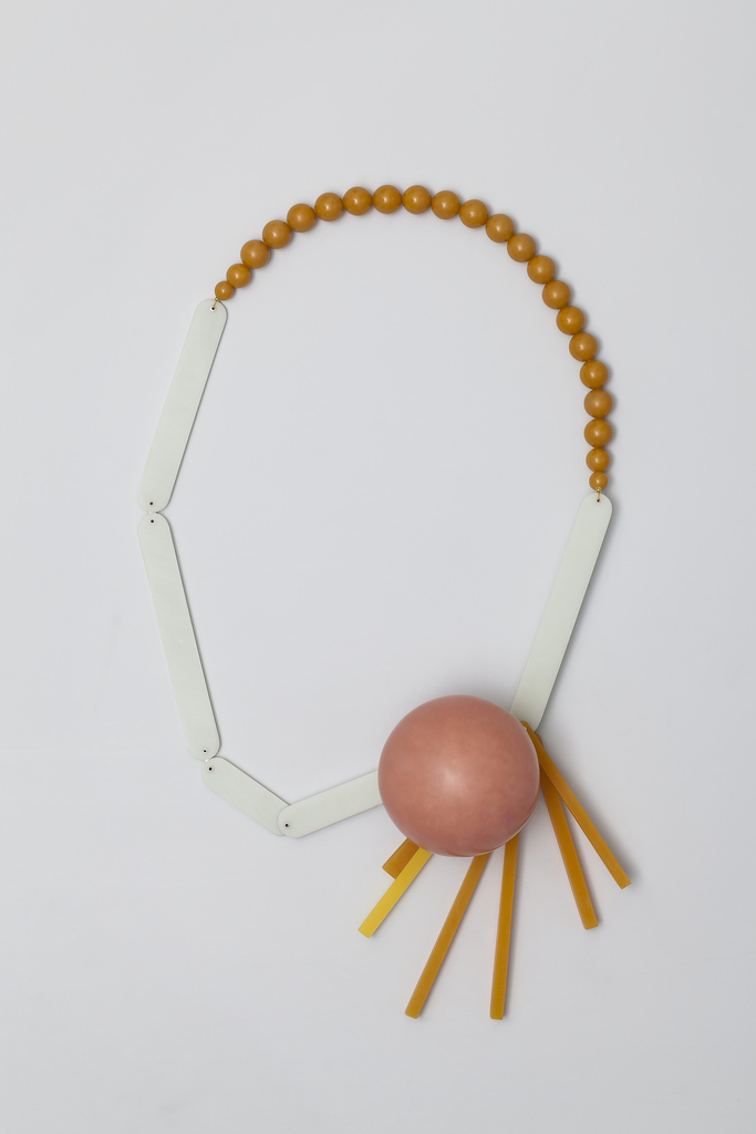 Necklace, Pinkpearl, from Synthetic Delight collection, 2013
