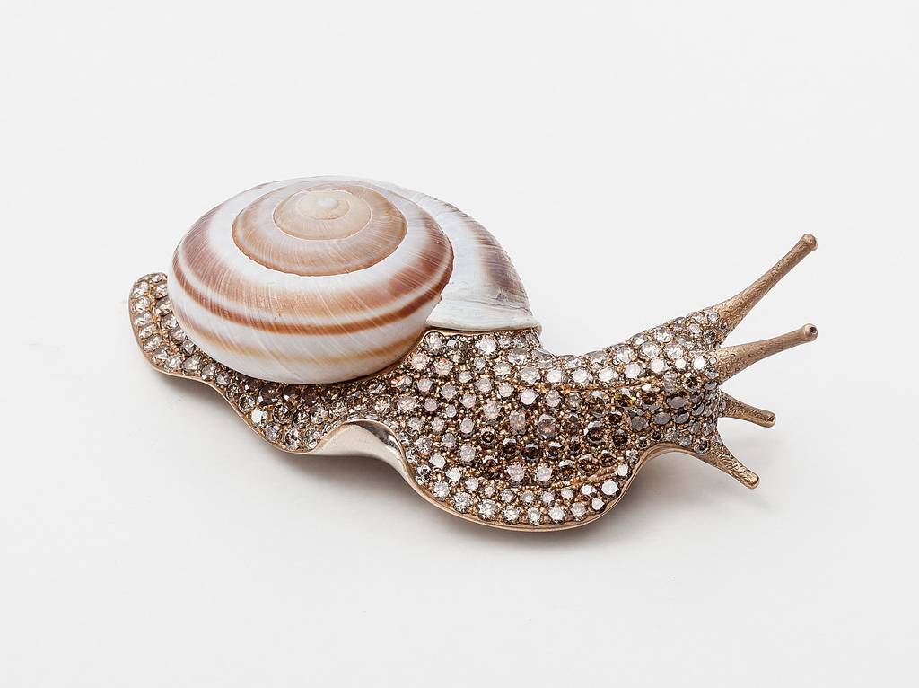 Brooch, Large snail, 2014