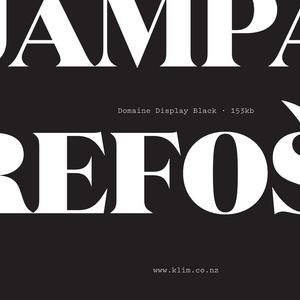 Specimen, Domaine Display typeface, 2014