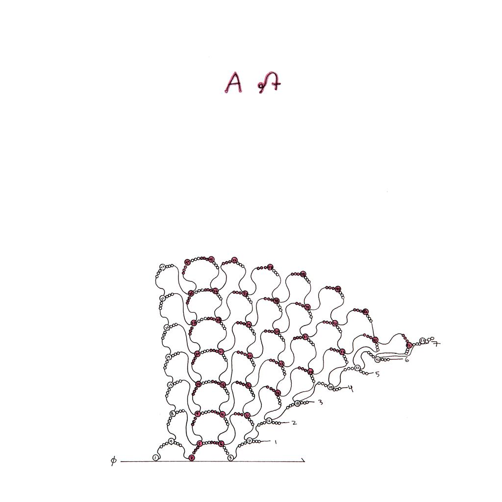 Drawing, Beaded Alphabet, A