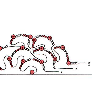 Drawing, Beaded Alphabet, C, 2015