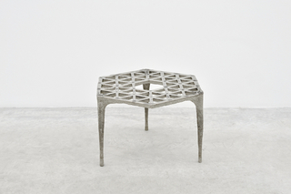 Stool, 48 Triangles, from Pewter series
