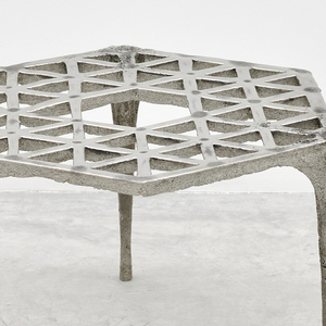 Stool, 48 Triangles, from Pewter series, 2014