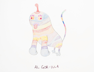 Sketch, Al Gor-illa, from the Afreaks series, 2015