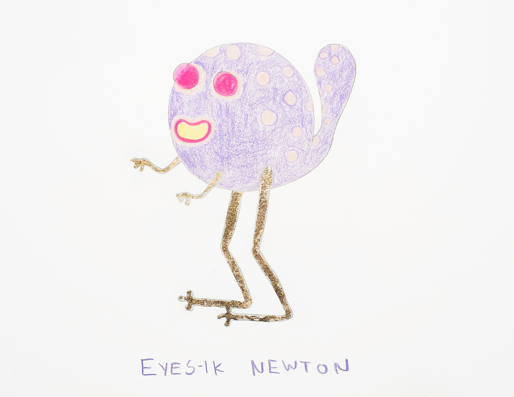 Sketch, Eyesik Newton, from the Afreaks series, 2015