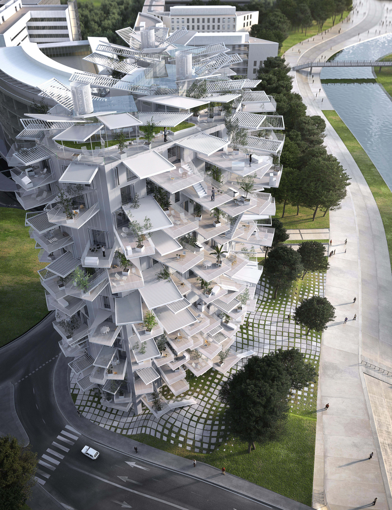 Rendering, Montpellier Apartment (L'Arbre Blanc), 2014
