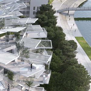 Rendering, Montpellier Apartment (L'Arbre Blanc), 2014