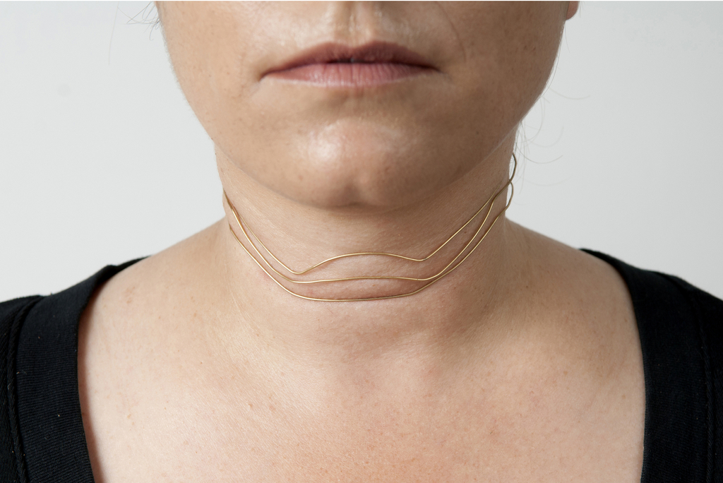 Multistrand Choker, from Wrinkle Jewelry collection, 2012