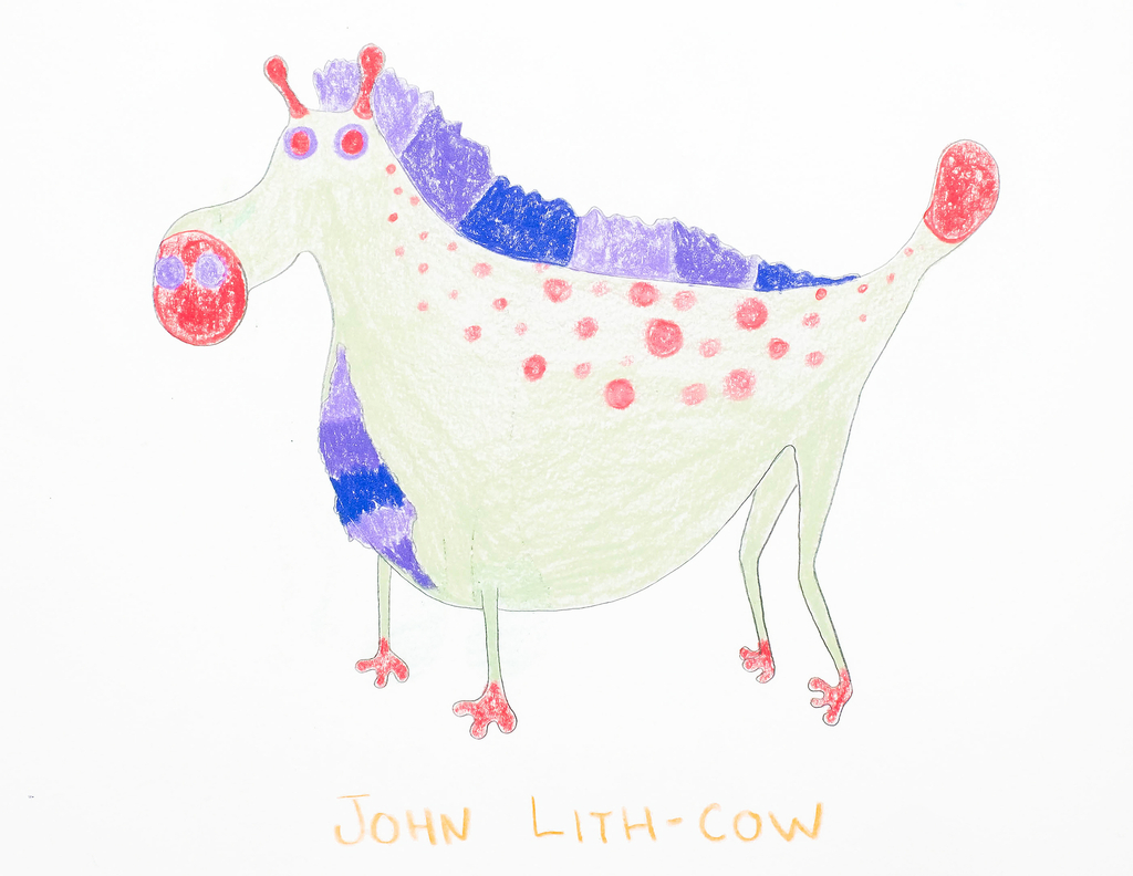 Sketch, John Lith-cow, from the Afreaks series, 2015