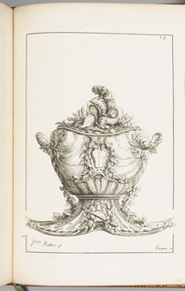 Print, Pot à Oille (Soup Tureen), plate 78, in Elements d'Orfevrerie (Elements of Goldsmithing), Second Part