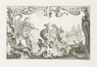Print, Design for Ornament, Plate 17, Second Livre de tableaux d'ornemens et rocailles