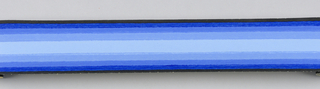 Blue band in center with blue bands deepening in hue toward edges on either side of center Duro-Stripes.