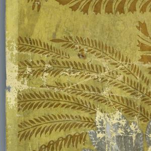 Bold foliate design, possibly palm fronds.