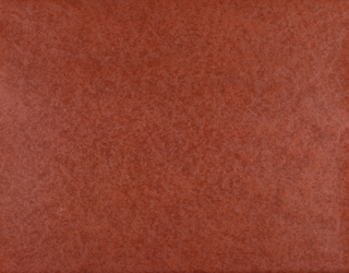 All-over design with irregular dark red mottling on red ground; effect reminiscent of worn or stained velvet .
