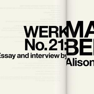 Magazine, WERK No. 21: Martin Bedin, 2014