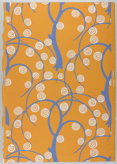 Sidewall, Wallpaper with Stylized Trees