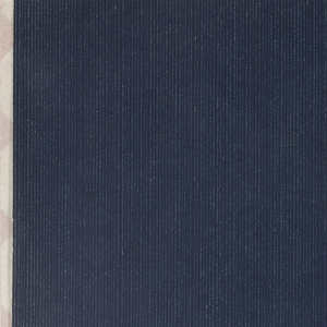 Dense design of extremely thin white pinstripes on navy blue ground; pinstripes often appear partially worn or erased