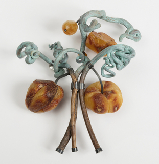 Brooch, Jungle Plate Nr. 01, from the Jungle collection, 2014