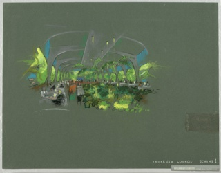 Drawing, Undersea Lounge, Scheme 1, ca. 1960s