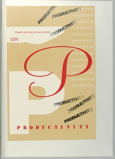 Poster, Productivity. Whatever your style, you can contribute...IMB