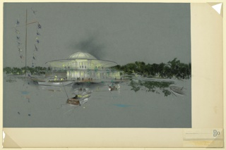 Drawing, Design for Marina Dining Pavillion, ca. 1965