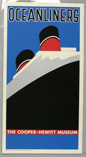 Poster, Ocean Liners, Cooper-Hewitt, 1980