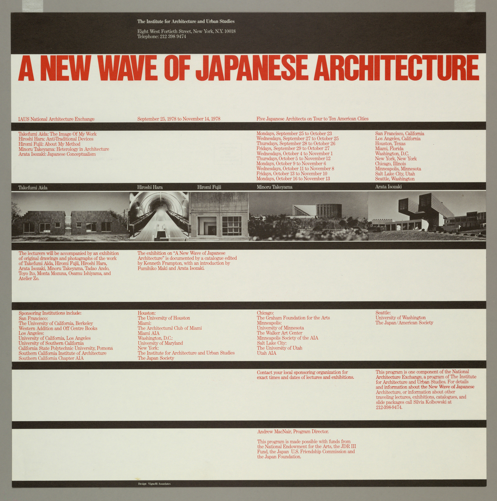 Poster, A New Wave of Japanese Architecture, 1978