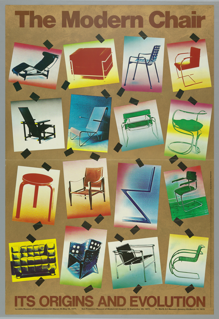 Poster, The Modern Chair, La Jolla Museum of Contemporary Art, 1977