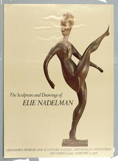 Poster, The Sculpture and Drawings of Edie Nadelman / Hirshhorn Museum, 1975