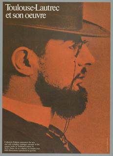 Poster, Toulouse-Lautrec et son o, 1970