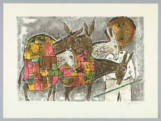Print, Donkeys and Driver