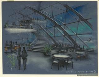 Drawing, Undersea Lounge, Scheme 3