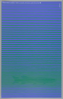 Poster depicted an underwater scene in blue and green stripes. A green fish swims along the bottom of the water.