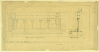 Drawing, Hall Seat, Henry J. Allen Residence, Wichita, Kansas, 1917