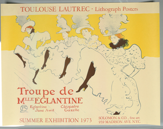 Poster, Toulouse-Lautrec lithography Posters, 1973