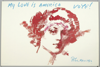 Poster, My Love Is America Vote!, 1976