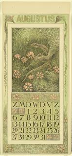 Print, Design for a Calendar (Au, 1911