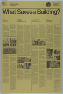 Poster, What Saves a Building?, 1976