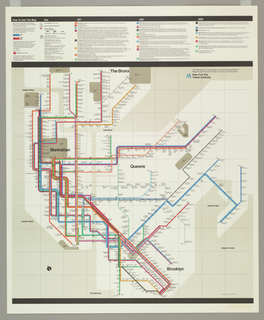 Poster, Subway Map for the New York Transit Authority, 1974