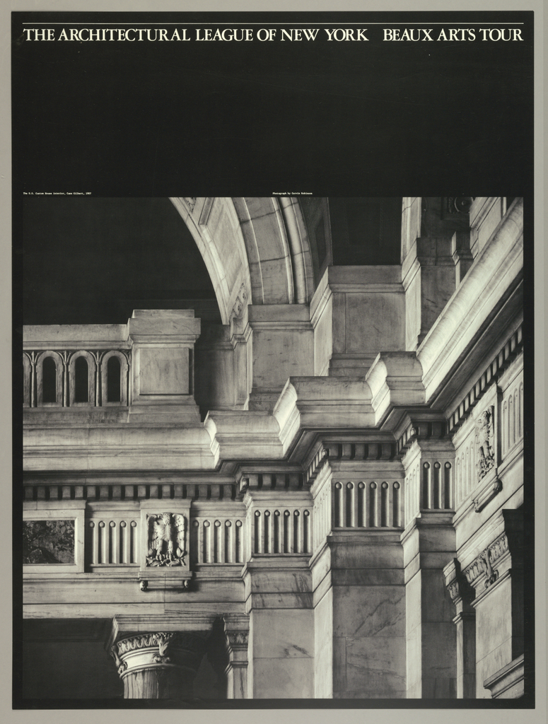 Poster, The Architectural League of New York, Beaux Arts Tour