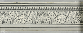 Wide band of anthemion with scrolling tendrils, below a band of beading. Printed in grisaille.  H# 440