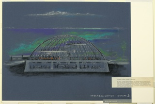 Drawing, Design for Undersea Lounge: Scheme 3, Main Level