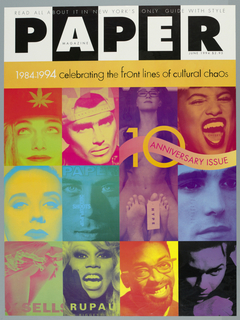 Poster, Paper Magazine: 1984-1994, Celebrating the Front Lines of Cultural Chaos, 1994
