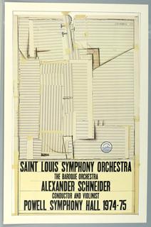 Poster, St. Louis Symphony, 1974