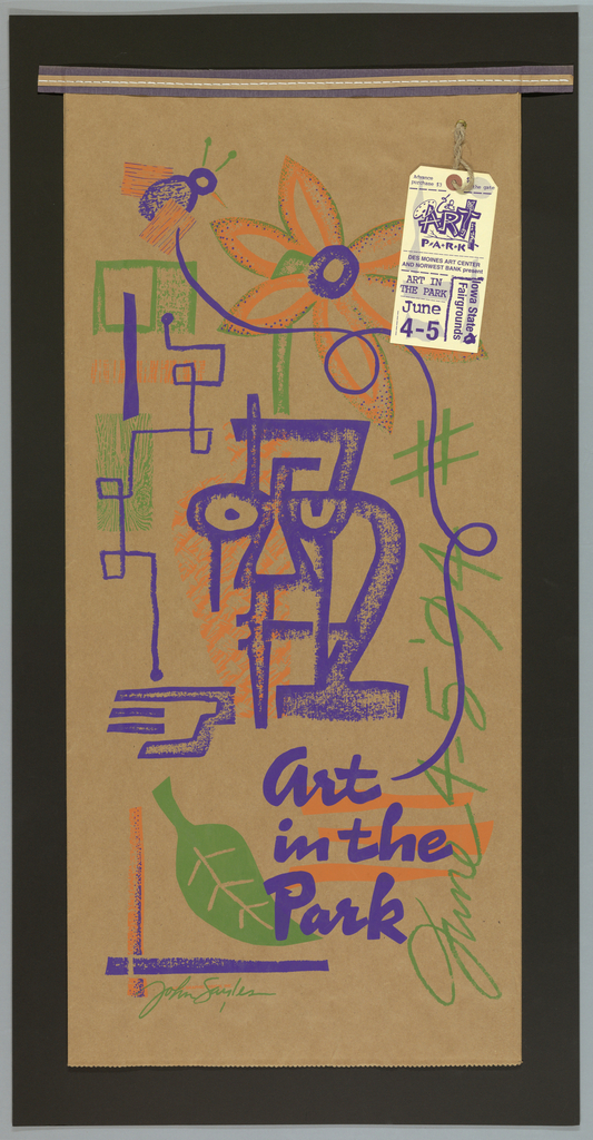 """Poster, """"Art in the Park,"""" Poster, 1994"""