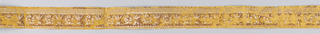 A band of rosettes and addorsed anthemion is bordered on the bottom by a beaded molding and on top by a row of dentils.  H# 518