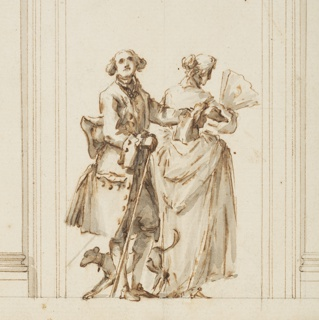 Drawing, Design for the East Portal, Grand Gallery, Villa Albani, Rome, Italy